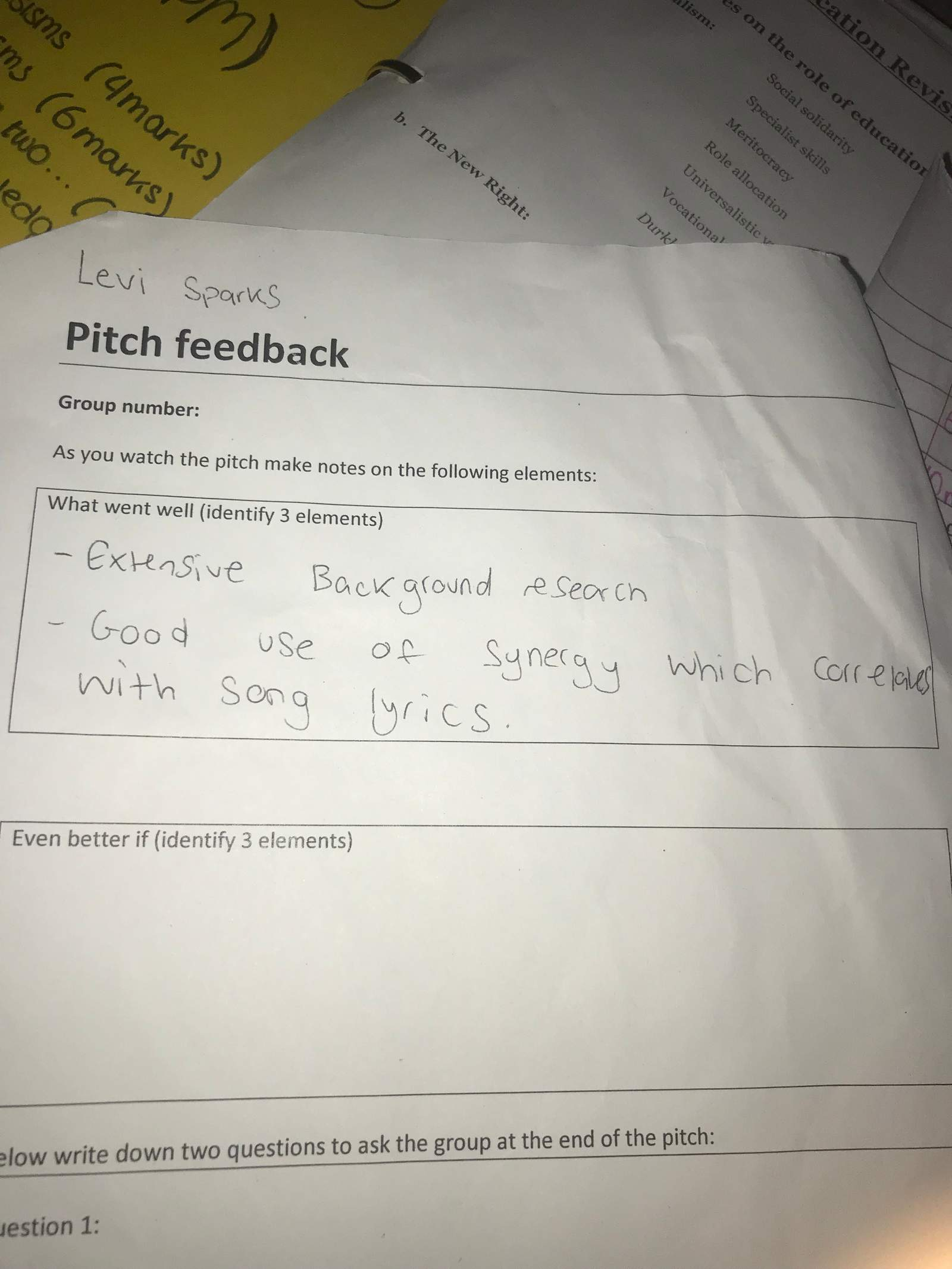 Pitch Feedback - Milanote